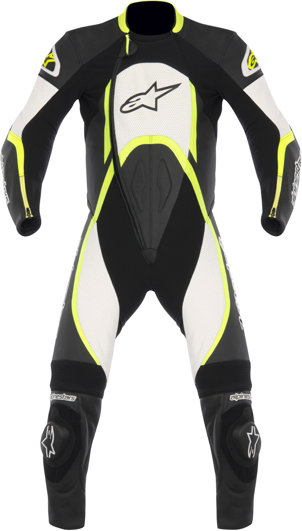 Alpinestars Orbiter leather suit black-white-yellow