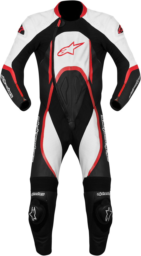 Alpinestars Orbiter leather suit black-white-red