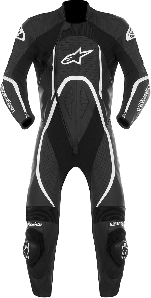 Alpinestars Orbiter leather suit black-white