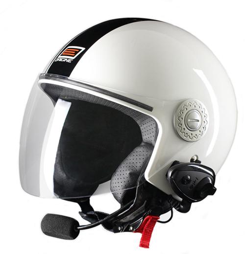 Origine Pronto Tony jet helmet with interphone Kie' White Black