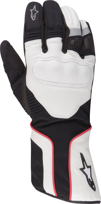 Guanti moto Alpinestars Overland Drystar 2013 nero-bianco-rosso