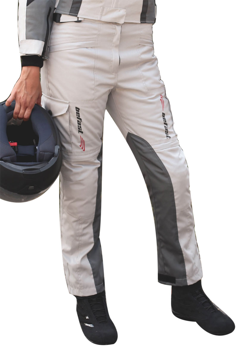 Pantaloni moto donna Befast Tuono WP Lady Grigio
