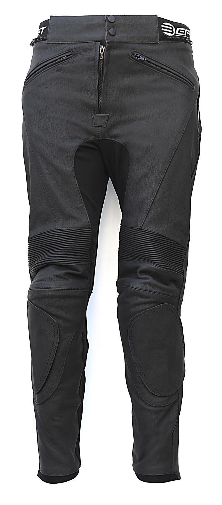 Pantaloni moto pelle racing Befast Universal Nero