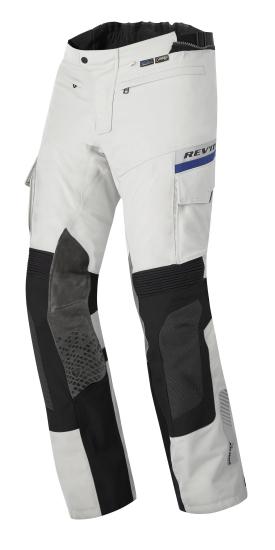 Pantaloni moto Rev'it Dominator GTX Grigio chiaro Nero Allungato