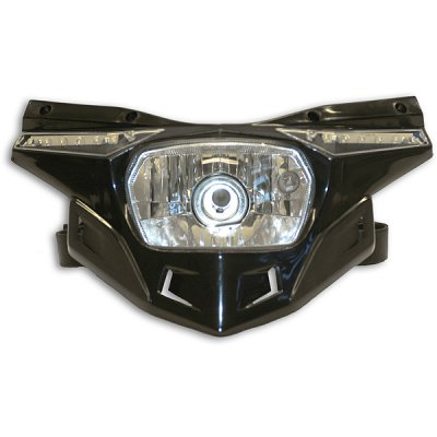 Ufo replacement plastic Stealth headlight - lower part - Black