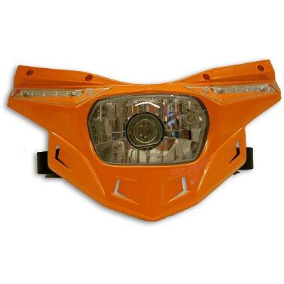 Ricambio plastica portafaro Ufo Stealth -parte bassa- Arancio