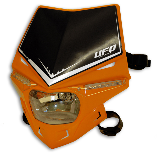 Ufo Plast Stealth headlight single-colour orange