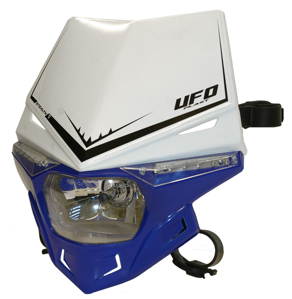 Ufo Plast Stealth headlight Dual colour white-blue reflex