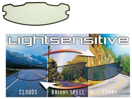 Lente chiara fotocromatica-antiappannamento per visiere Progrip