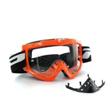 Progrip eco 3301 off road goggles with nose protection Orange