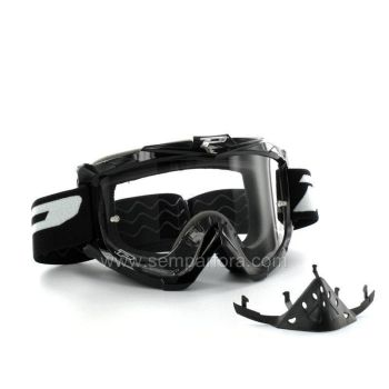 Progrip eco3301 off road goggles with nose protection Black