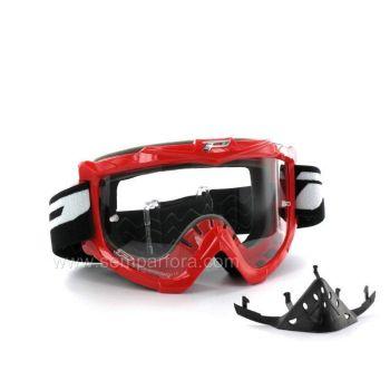 Occhiali moto cross enduro con paranaso Progrip eco3301 Rosso