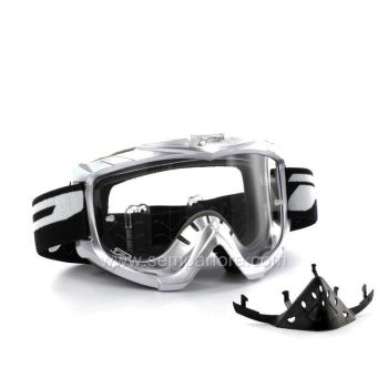 Progrip eco3301 off road goggles with nose protection White