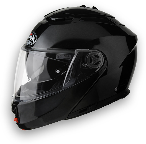 Casco apribile Airoh Phantom Color nero lucido omol.P-J
