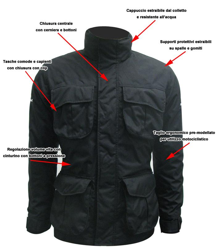 Befast Phanter City Black motorcycle jacket
