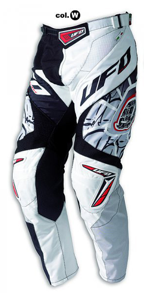 Ufo Plast Made in Italy 2012 Eclipse enduro pants white-black