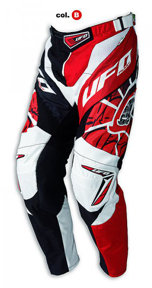 Pantaloni cross Ufo Plast Made in Italy 2012 Eclipse rosso-neri