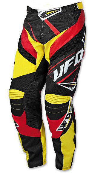 Pants cross UFO MX-23 Micron Pants Yellow Red