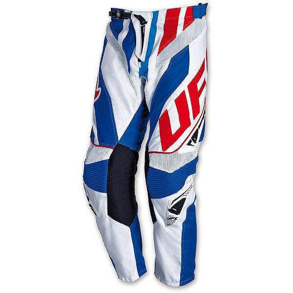 Pantaloni cross Ufo Plast Century Blu Bianco