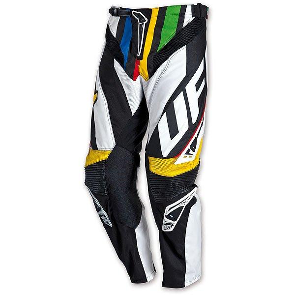 Pantaloni cross Ufo Plast Century Nero Bianco Multicolor