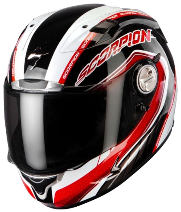 Scorpion Exo 1000 Air Pipeline full face helmet Black Red