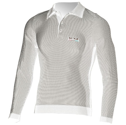 Sixs long sleeved polo White