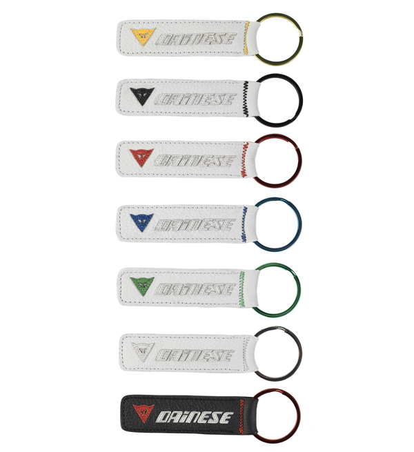 Dainese Leather key ring white-black