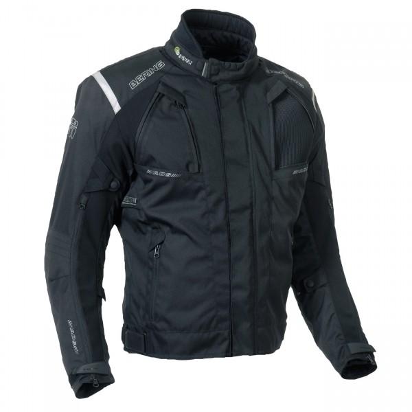 Approved Bering waterproof motorcycle jacket 3 layers Mono Black