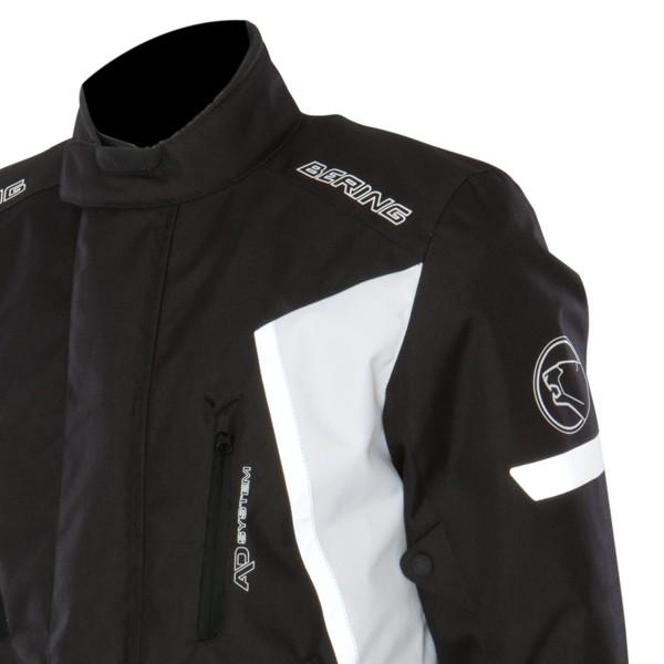 Giacca moto Omologata Bering Katana 3strati Nero Bianco Arancio