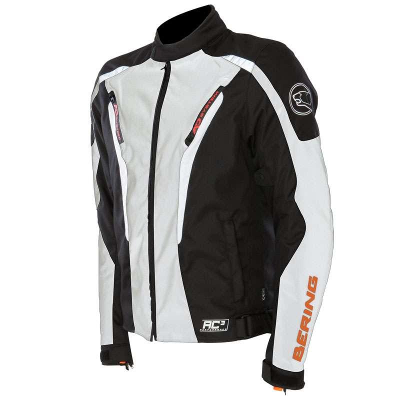 Approved waterproof motorcycle jacket Bering Max Black White