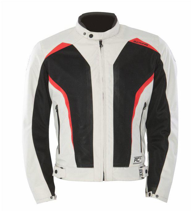 Approved summer motorcycle jacket Bering Keers Black Beige