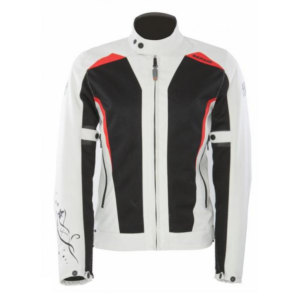 Approved summer motorcycle jacket woman Bering Keers Black Beige