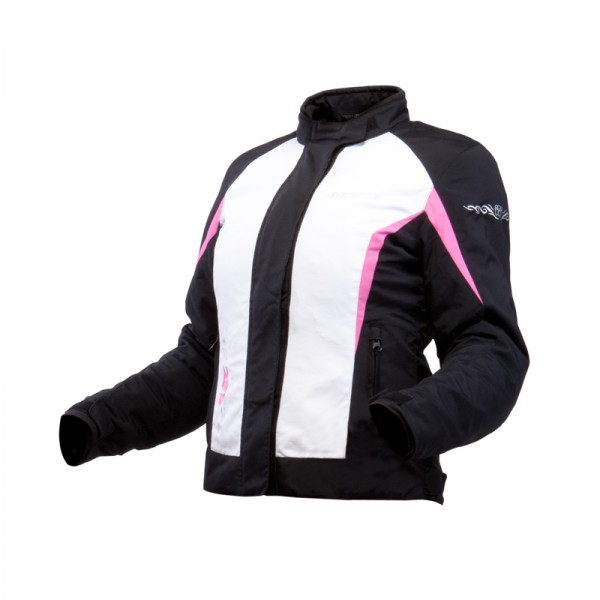 Motorcycle jacket woman Approved Bering Laurene Black Pink