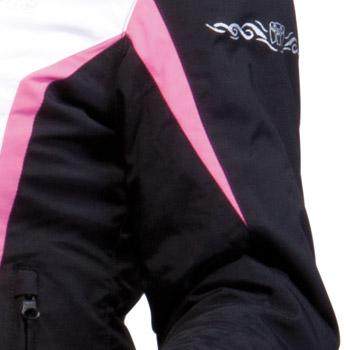 Giacca moto donna Omologata Bering Laurene Nero Rosa