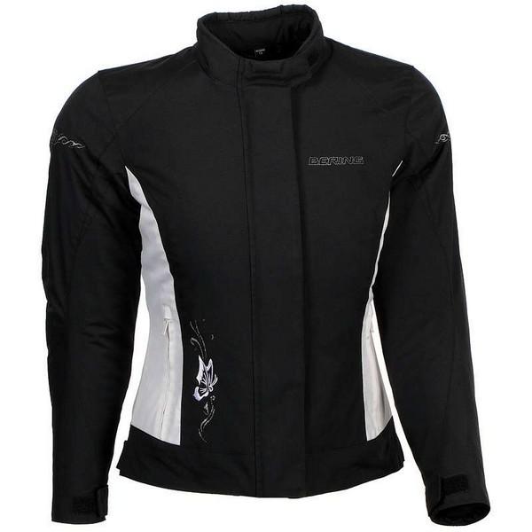 Motorcycle jacket woman Approved Bering Laurene Black White