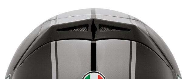 Presa aria top per casco Agv K-4 Evo Roadster nero-gunemtal