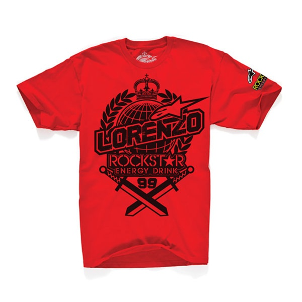 T-shirt Alpinestars Prestige Tee Red Limited Edit Jorge Lorenzo