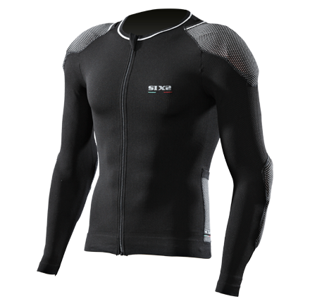 Sixs long sleeved shirt with protections predisposition Black