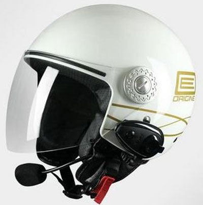 Casco jet Origine Pronto Lia con Bluetooth integrato Bianco
