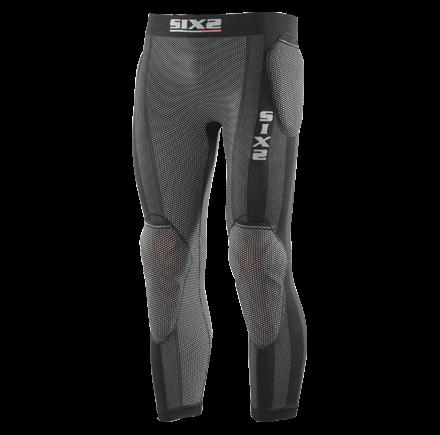 Pantaloni intimi lunghi Sixs con predisposizione protezioni Nero