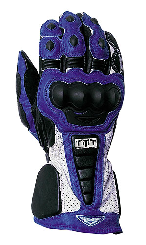Prexport Pro Race leather gloves Blue