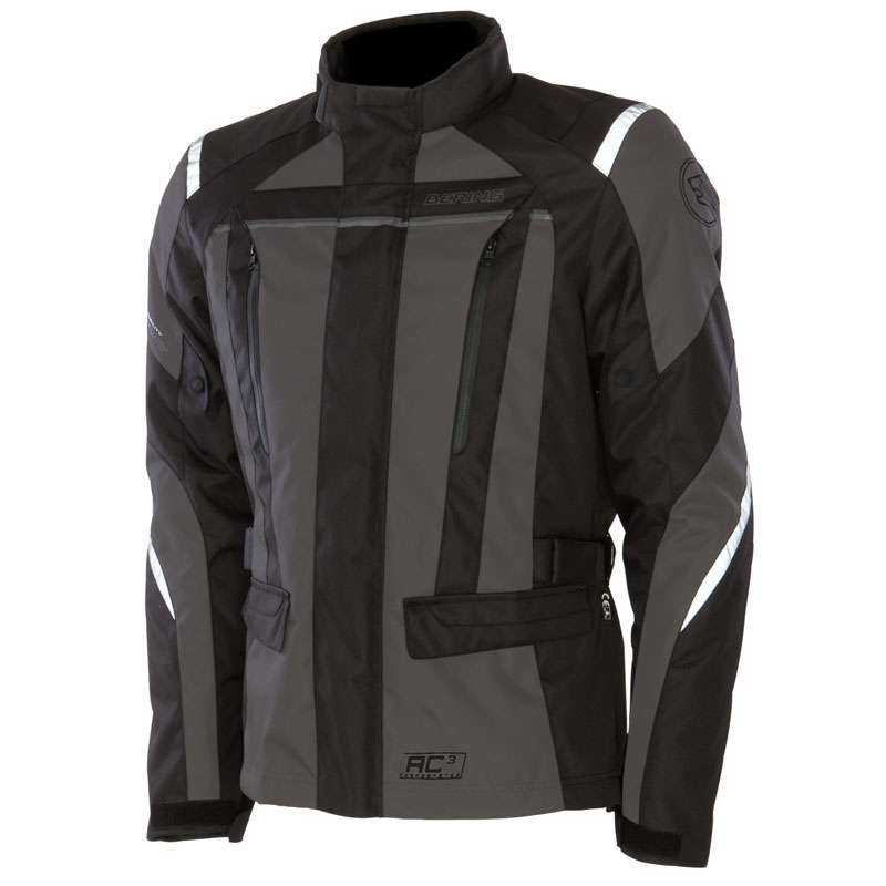 Approved motorcycle jacket Bering Akkor Evo Black Grey