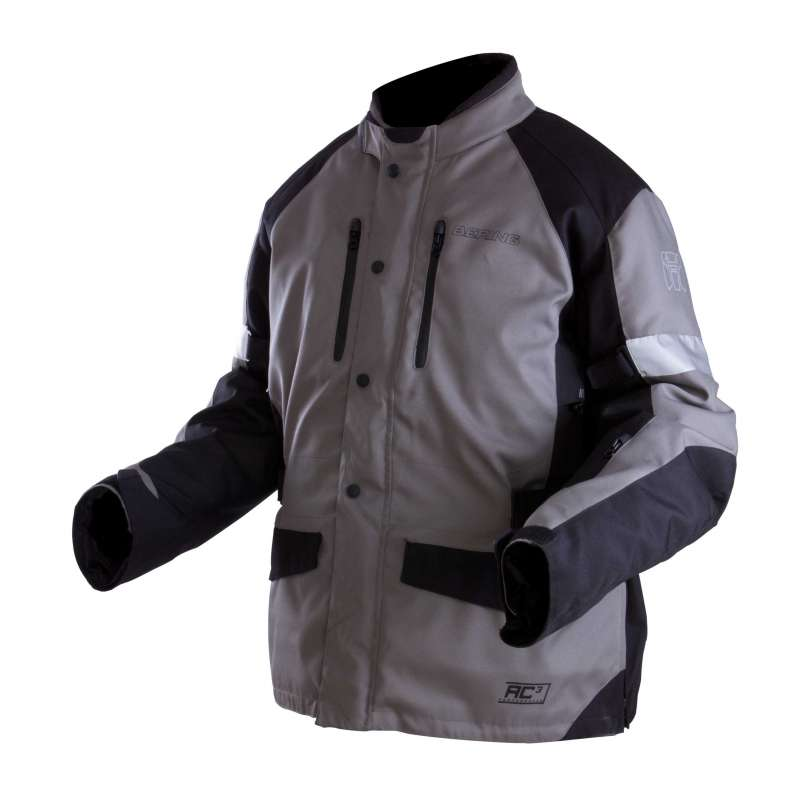 Approved motorcycle jacket Bering Luis King Size Grey Black