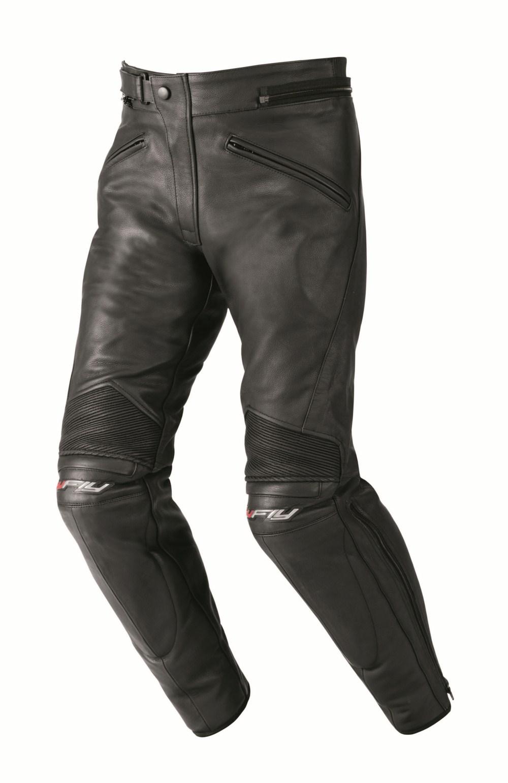 Pantaloni moto donna pelle Hy Fly Stardom Nero