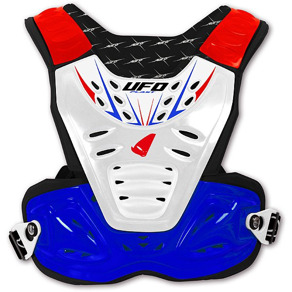 Ufo Plast Reactor 2 Evolution kid chest protectin Blue White Red