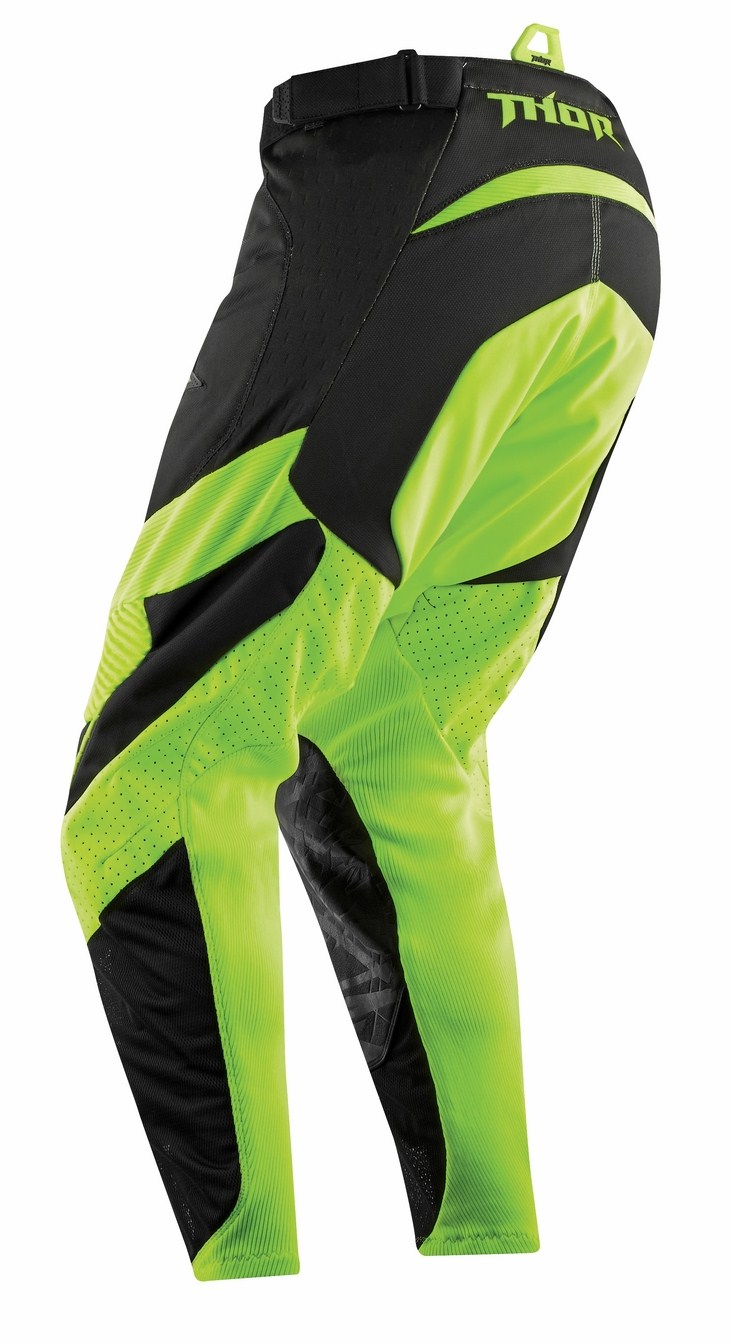 Pantaloni Cross Thor Core Orbit nero verde fluo
