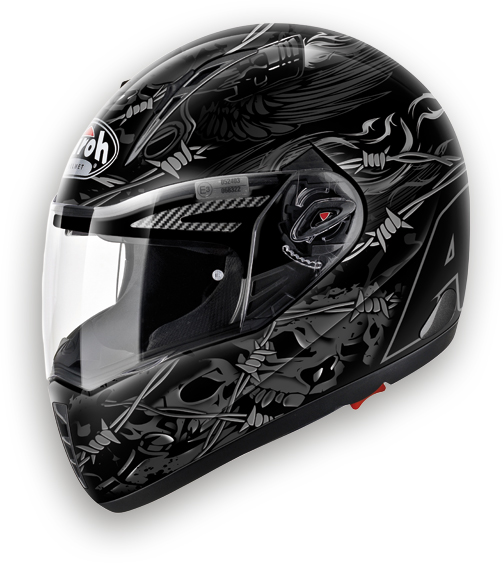 Airoh Pit One XR Thorns  full face helmet black