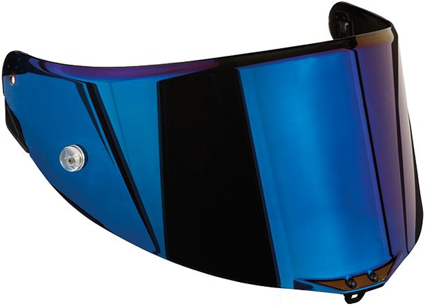 Visiera Race 2  antigraffio iridium blu per caschi Agv