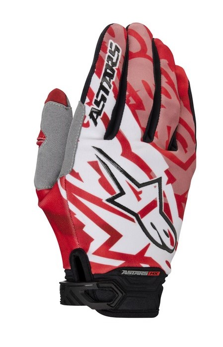 Alpinestars Racer 2014 offroad gloves red black