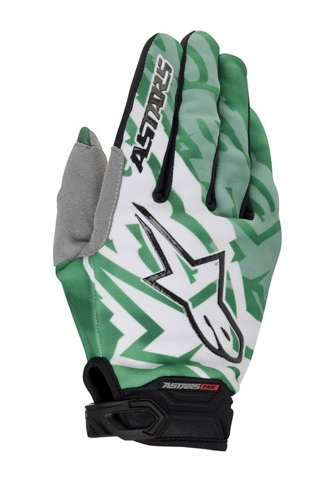 Alpinestars Racer 2014 offroad gloves green black
